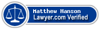Matthew D. Hanson  Lawyer Badge