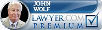 John A. Wolf  Lawyer Badge