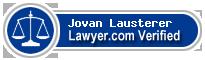Jovan Wayne Lausterer  Lawyer Badge
