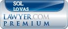 Sol Lovas  Lawyer Badge