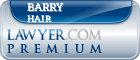 Barry William Hair  Lawyer Badge