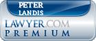 Peter J. Landis  Lawyer Badge