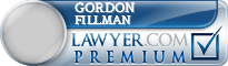 Gordon B. Fillman  Lawyer Badge
