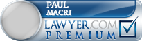 Paul F. Macri  Lawyer Badge