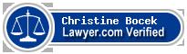 Christine Bocek  Lawyer Badge