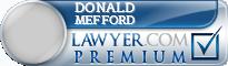 Donald Travis Mefford  Lawyer Badge