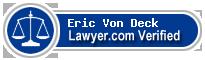 Eric William Von Deck  Lawyer Badge
