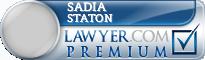Sadia Staton Staton  Lawyer Badge