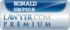 Ronald Wayne Simpson  Lawyer Badge