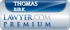 Thomas Hilary Birk  Lawyer Badge
