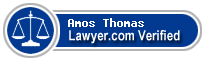 Amos Paul Thomas  Lawyer Badge