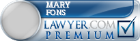 Mary C. Fons  Lawyer Badge