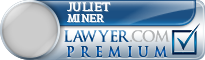 Juliet Miner  Lawyer Badge