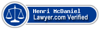 Henri Butler McDaniel  Lawyer Badge