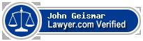 John W. Geismar  Lawyer Badge