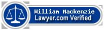 William A. Mackenzie  Lawyer Badge