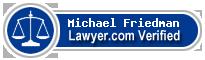 Michael P. Friedman  Lawyer Badge