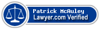 Patrick McAuley  Lawyer Badge