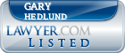 Gary Hedlund Lawyer Badge