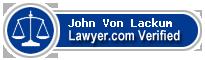 John K. Von Lackum  Lawyer Badge