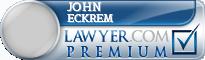 John P Eckrem  Lawyer Badge
