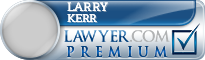 Larry L Kerr  Lawyer Badge
