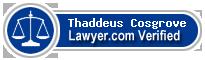 Thaddeus E. Cosgrove  Lawyer Badge