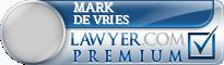 Mark William De Vries  Lawyer Badge