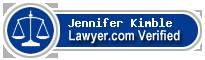 Jennifer F Kimble  Lawyer Badge