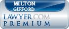 Milton E Gifford  Lawyer Badge