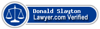Donald R Slayton  Lawyer Badge