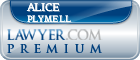 Alice M Plymell  Lawyer Badge