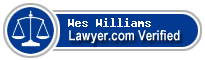 Wes Williams  Lawyer Badge
