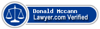 Donald W Mccann  Lawyer Badge