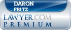 Daron F. Fritz  Lawyer Badge