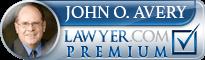 John Orval Avery  Lawyer Badge