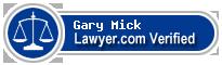 Gary Lyman Mick  Lawyer Badge
