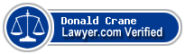 Donald R Crane  Lawyer Badge