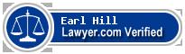 Earl W. Hill  Lawyer Badge