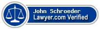 John Thomas Schroeder  Lawyer Badge