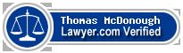 Thomas F McDonough  Lawyer Badge