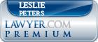 Leslie G. Peters  Lawyer Badge