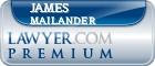 James W. Mailander  Lawyer Badge