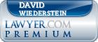 David Louis Wiederstein  Lawyer Badge