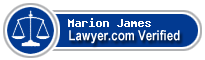 Marion E. James  Lawyer Badge