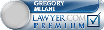 Gregory George Milani  Lawyer Badge