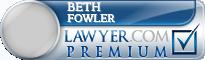 Beth Fowler  Lawyer Badge
