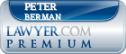 Peter Jeffrey Berman  Lawyer Badge