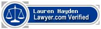 Lauren Shanks Hayden  Lawyer Badge