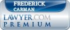 Frederick S. Carman  Lawyer Badge